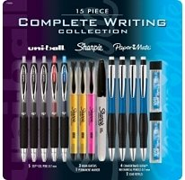 Pen & Highligter Writing Set 15 Piece Complete