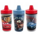 Disney Limited Addition Insulated Sippy Cups 3 Pack Cars 2 Reusable