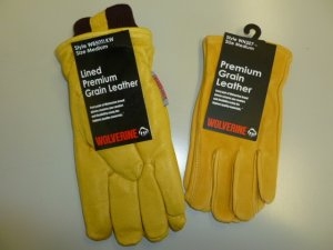 Wolverine Lined Premium Grain Leather Gloves 2Pk Large