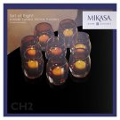 Mikasa Amber Solaris Votive Holders Set Of Eight Amber Color