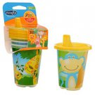 Evenflo 12 Pack Sippy Cups ZOO Freinds 10 Oz