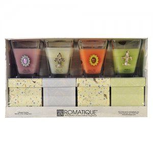Aromatique Scented Decorative Candles 4 Pk