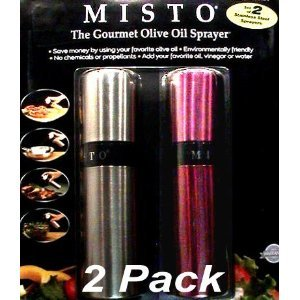 Misto Stainless Steel Gourmet Oil Sprayer 2 Pack