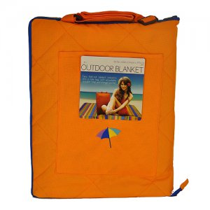 Blanket  Tote Outdoor  Sports Picnic Events ORANGE