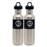 Cyclops Stainless Steel Water Bottles 2 Pack Black