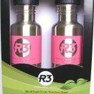 Cyclops R3 Stainless Steel Water Bottles 2 Pack PINK