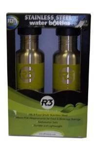 Cyclops Stainless Steel Water Bottles 2 Pack Light Green