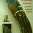 X-Blades Folding Utility Knife \ Gold