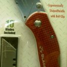 X-Blade Folding Utility Knife \ Red
