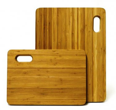 Mangoleaf Bamboo Cutting Board 2Pk Kitchen Dining