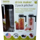 Takeya  2Pk Drink Maker Pitchers Black