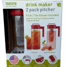 Takeya  2Pk Drink Maker Pitchers  RED