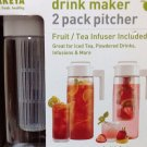 Takeya  2Pk Drink Maker Pitchers White