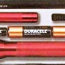 Maglite Flashlights 2 Pack With Batteries & Hard Case\ RED In Color