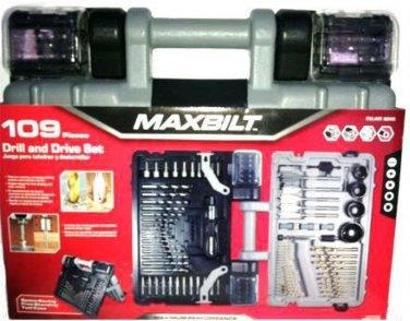MAXBILT 109 Pc. Drill & Drive Set With Space Saving Hard Case