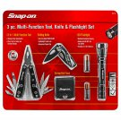 Snap-on Multi-Function Tool Knife & Flashlight Set