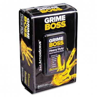 Crime Boss Pre-moistened Heavy Duty Hand Cleaning Wipes