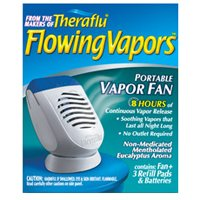 Theraflu Flowing Vapors � Portable Vapor Fan (Battery Operated) + 3 Refills Mentholated Eucalyptus