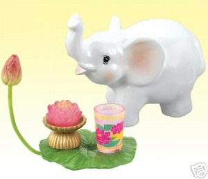 Re-ment Dollhouse Miniature Buddhism Elephant Lily RARE ** Free Shipping