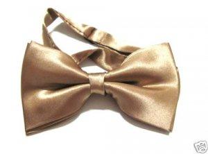 SILK BOWTIE GOLD Men Bow Tie Tuxedo Wedding Party Ball ** Free Shipping