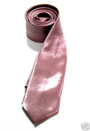 """2"""" Skinny Thin Tie PALE PINK Vintage Punk X'mas Party ** Free Shipping"""