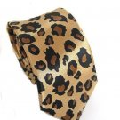 "Leopard Animal Print Skinny Thin Tie Vintage Punk 2"" ** FRee Shipping"