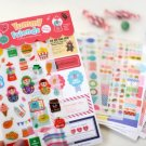 NEW Korea Afrocat Yummy Friends Deco Sticker Diary Photo Deco Set 12 sheets