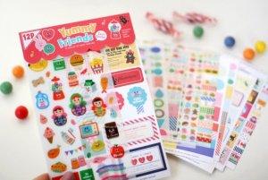 NEW Korea Afrocat Yummy Friends Deco Sticker Diary Photo Deco Set 12 sheets