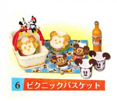 Re-ment Miniature Disney Mickey Minnie Picnic Basket ** Free Shipping