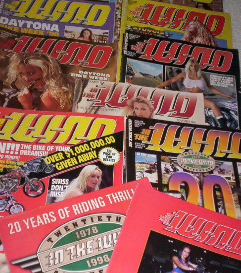 9 In The Wind motorcycle magazines + Easyriders biker show bonus