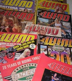 9 In The Wind motorcycle magazines + Easyriders biker show bonus