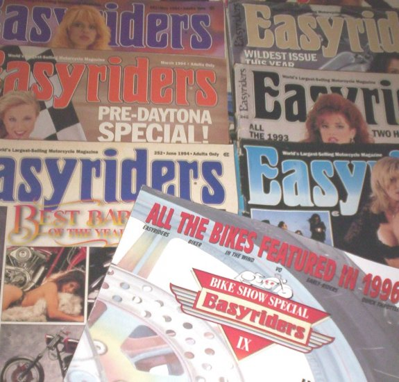 10 Easyriders 1994 Easy rider Biker Magazine LOT  + bonus