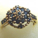 VINTAGE STYLE SAPPHIRE RING 10K