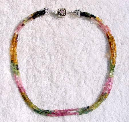 TRIPLE STRAND TOURMALINE NECKLACE