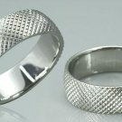 DIAMOND CUT SURGICAL STEEL RING
