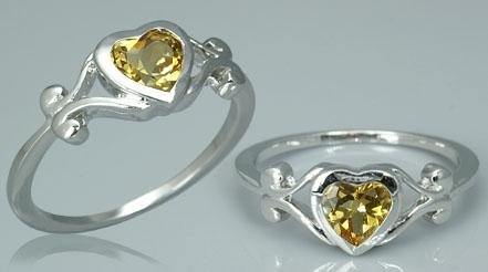 FABULOUS CITRINE HEART RING
