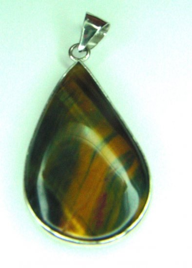 REVERSIBLE TIGEREYE PEAR SHAPED PENDANT