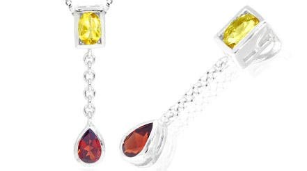 CITRINE AND GARNET PENDANT