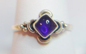 FABULOUS AMETHYST PRINCESS CABOCHON RING
