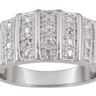 7 ROW DIAMOND ACCENT RING