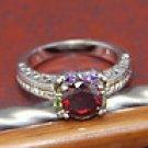 Amazing red topaz ring