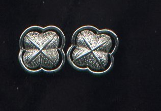 Vintage Coro 4-leaf clover  silvertone  clip back earrings