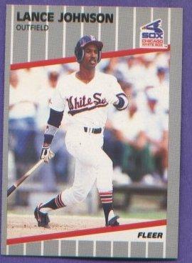 Lance Johnson #499 Chicago White Sox 1989 Fleer