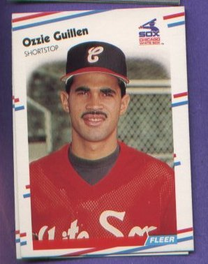 Ozzie Guillen #398 White Sox 1988 Fleer baseball card