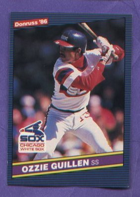 Ozzie Guillen #208 White Sox 1986 Donruss baseball card