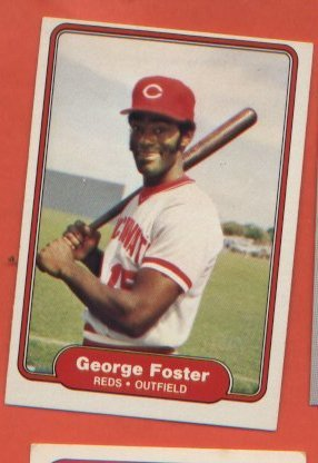 George Foster #566 Reds 1982 Fleer
