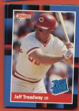 Jeff Treadway #29  Reds RATED ROOKIE 1988 Donruss