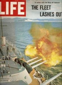 The Fleet Lashes Out U.S.S. Oklahoma City LIFE 8/6/1965