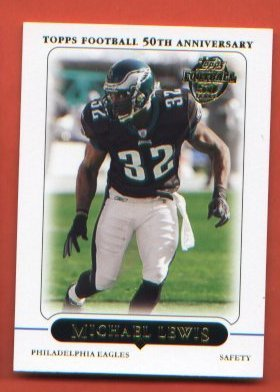 2005 Topps Football Card #20 - Michael Lewis   EAGLES