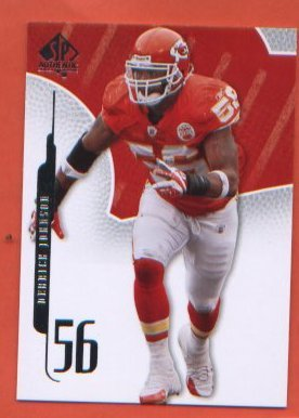Derrick Johnson #42 2008 SP Authentic Chiefs